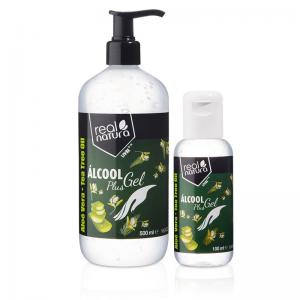Real Natura álcool gel plus PACK 500 + 100 ml Ref.11483