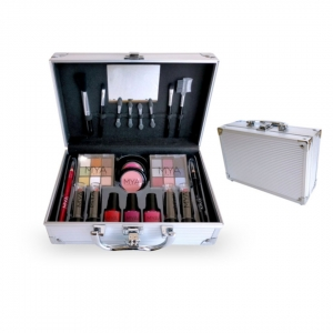 Mya makeup kit travel pequeno silver ref410003B