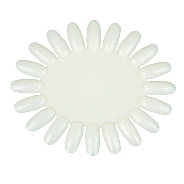 Palete expositor oval 20 cores branco